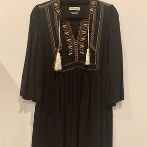 Isabel marant etoille black dress w tassel
